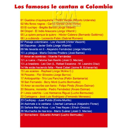 Tras - Compositores colombianos